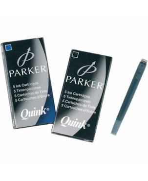 Parker Quink Standard Ink Cartridges (Pack of 5)