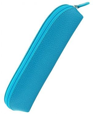 Laurige Leather Pencil Case - Turquoise