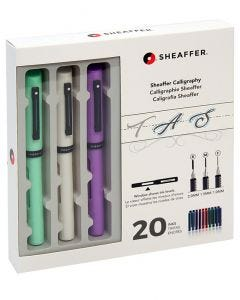 Sheaffer Calligraphy Fountain Pen Maxi Kit - Mint, White, Lavender