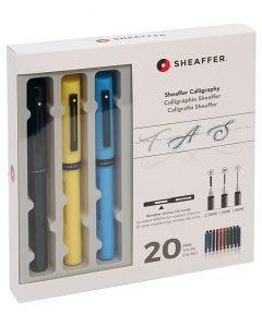 Sheaffer Calligraphy Fountain Pen Maxi Set - Black, Yellow, Blue