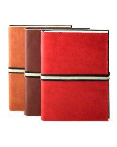 Abruzzi Medium Leather Journal with Black & Stone Tie
