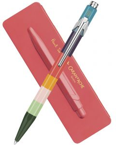 Caran d'Ache x Paul Smith Series 3 Limited Edition 849 Ballpoint Pen with Coral Pink Tin