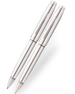 Cross Coventry Lustrous Chrome Ballpoint and Pencil Set