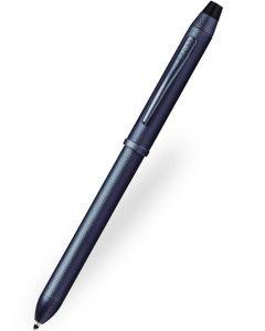 Cross Tech3+ Brushed Dark Blue Multifunction Pen