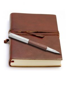 Ohto Giza Leather Rollerball Pen & Da Vinci Large Leather Journal