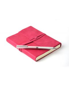 OHTO Tasche Pink Ballpoint Pen & Amalfi Medium Leather Journal