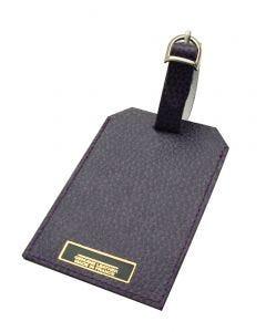 Laurige Leather Luggage Tag - Aubergine