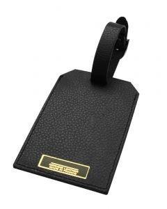 Laurige Leather Luggage Tag - Black