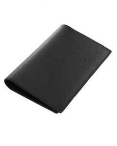Laurige Leather Passport & Travel Documents Holder - Black