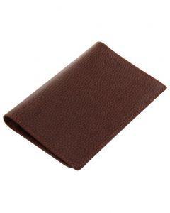 Laurige Leather Passport & Travel Documents Holder - Chocolate