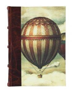 Bomo Art Large Half Leather Bound Journal - Balloons