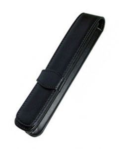 Online Leather 1 Pen Case - Black