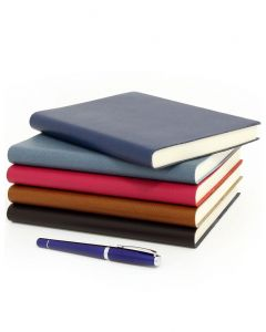 Palmi Large Refillable Grained Leather Journal