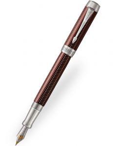Parker Duofold Prestige Burgundy Chevron Fountain Pen