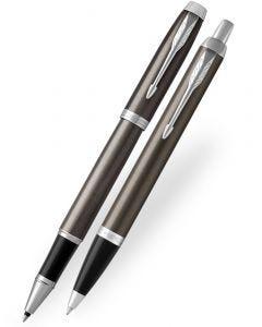 Parker IM Dark Espresso Rollerball & Ballpoint Pen Set