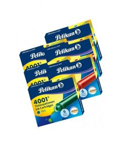 Pelikan 4001 Short Ink Cartridges (Pack of 6)