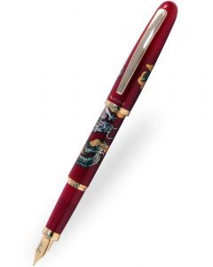 Platinum Modern Maki-e Vicoh Soryu Red Fountain Pen