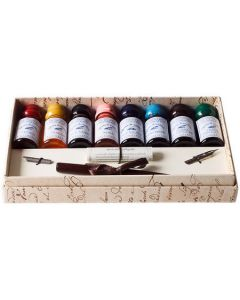 Wooden Dip Pen Set with 8 Inks