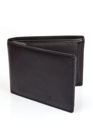 Dents Leather Tri-Fold Coin Pocket Wallet - Black