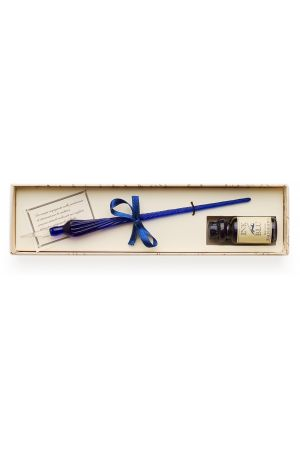 Glass Pen and Ink Set - Blue