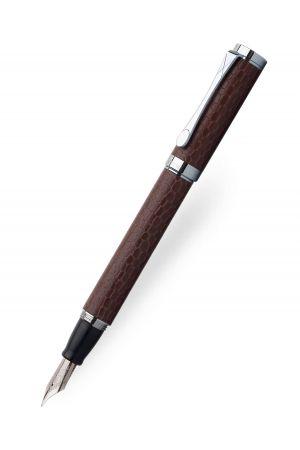 Coles Auriol Brown Leather Fountain Pen