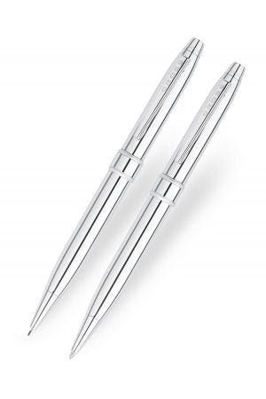 Cross Stratford Pure Chrome Ballpoint & Pencil Set