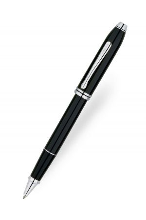 Cross Townsend Black Lacquer/Rhodium Plated Rollerball Pen