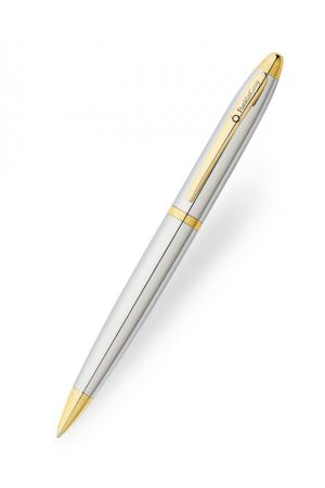 Franklin Covey Lexington Chrome & Gold Trim Ballpoint Pen