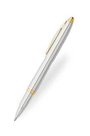 Franklin Covey Lexington Chrome & Gold Trim Rollerball Pen