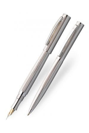 Laban Lined Sterling Silver Fountain & Ballpoint Pen Set