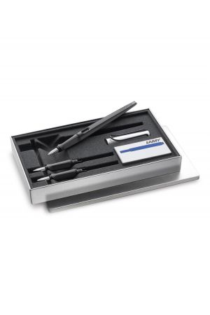 Lamy Joy AL Calligraphy Pen Set - Matt Black & Silver