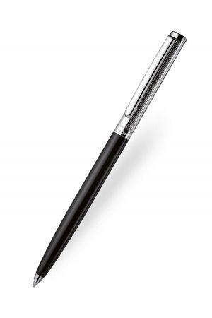 Otto Hutt Design 01 Ballpoint Pen - Black/Silver