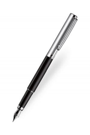 Otto Hutt Design 01 Fountain Pen - Black/Silver