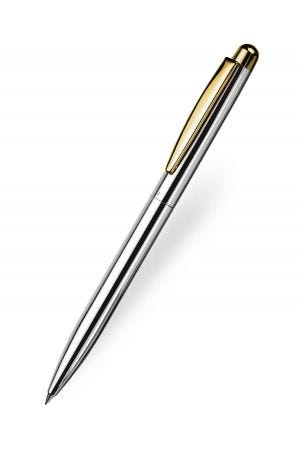 Otto Hutt Design 02 Pencil - Smooth Silver Gold Trim