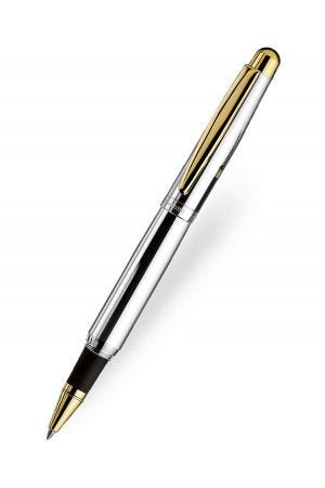 Otto Hutt Design 02 Rollerball  - Smooth Silver Gold Trim