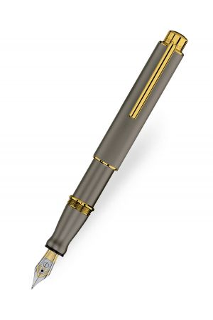 Otto Hutt Design 05 Fountain Pen - Ruthenium Gold Trim