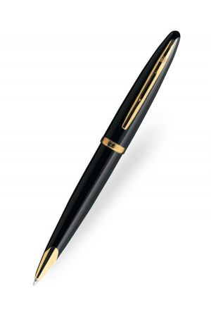 Waterman Carene Black Lacquer Gold Trim Ballpoint Pen