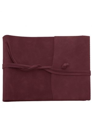 Amalfi Large Leather Photo Album - Burgundy