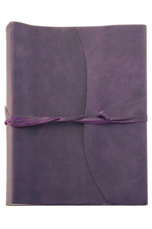 Amalfi Extra Large Leather Photo Album - Aubergine