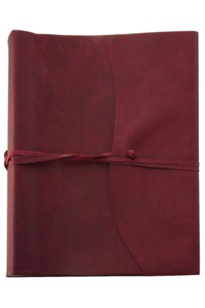 Amalfi Extra Large Leather Photo Album - Burgundy