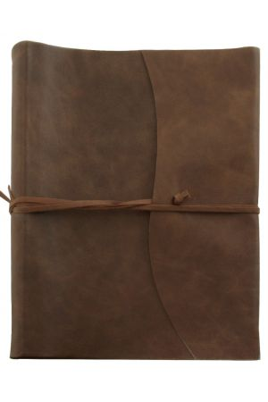 Amalfi Extra Large Leather Photo Album - Chocolate