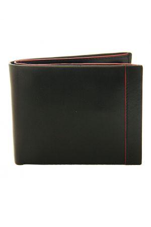 Dents Leather Coin Pocket Wallet Black/Red