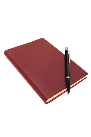 Parker Urban Black Ballpoint Pen & Sorrento Large Leather Journal