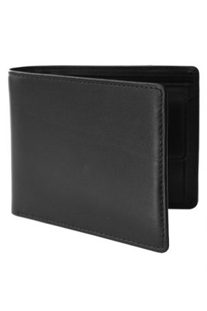 Byron & Brown Classic Billfold Wallet with coin pocket - Black