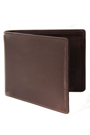 Byron & Brown Classic Billfold Wallet with coin pocket - Brown