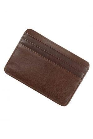 Byron & Brown Classic Credit Card Holder - Brown