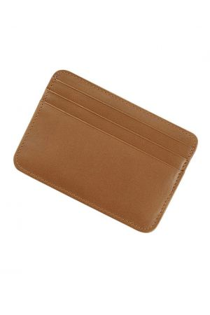 Byron & Brown Classic Credit Card Holder - Tan