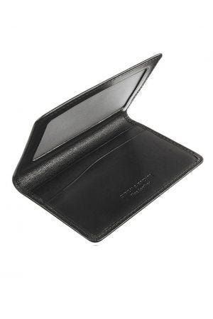 Byron & Brown Classic Travel Card Holder - Black