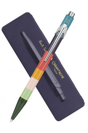 Caran d'Ache x Paul Smith Series 3 Limited Edition 849 Ballpoint Pen with Damson Purple Tin