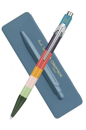Caran d'Ache x Paul Smith Series 3 Limited Edition 849 Ballpoint Pen with Petrol Blue Tin